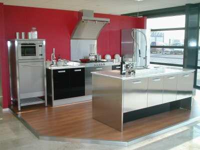 Nieuwe inrichting keuken en woonkamer thuis viva forum - Keuken rode en grijze muur ...